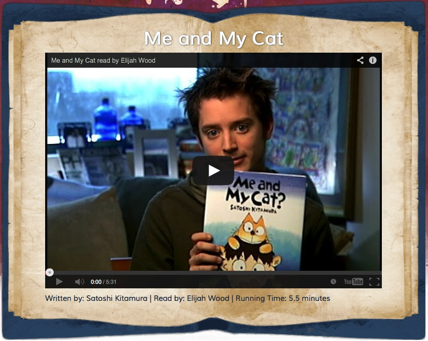 Elijah Wood Reads Me and My Cat