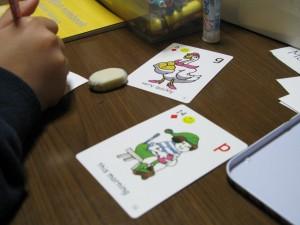 BBカード オリジナルを作る作業